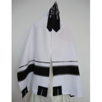 Black and Silver Tallit - Galilee Silks
