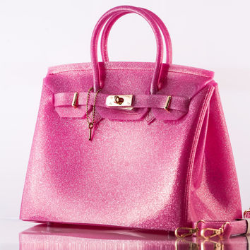The Beachkin Bag - Glitter pink