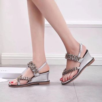 Dior Women Fashion Casual Low Heeled Shoes Sandals Shoes