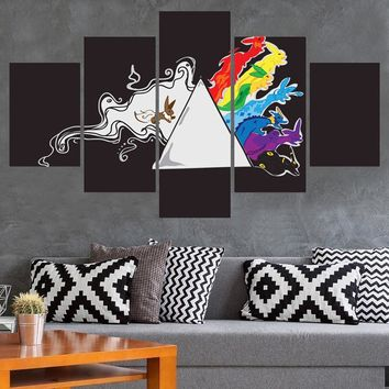 Pink Floyd Breathe Rabbit Poster Wall Modular Panel Print Canvas Print