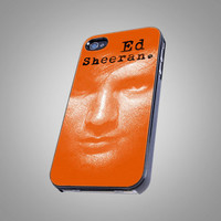 Ed Sheeran in Orange Design - iPhone 4 / 4S Case, iPhone 5 Case - Black, White, Clear