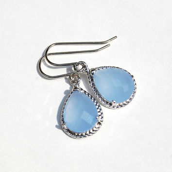Something Blue Everday Drop Earrings, Bridal Gift, Wedding, Mom, Sister, Bridesmaid Gift, Anniversary, Birthday, Gift, Fall Fashion