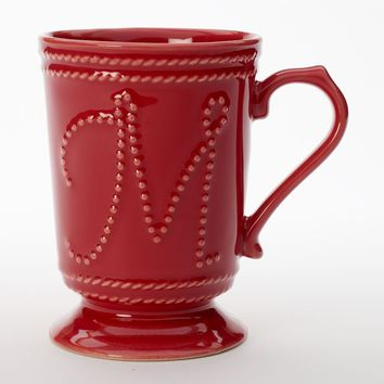 Food Network Fontinella 16-oz. Red Monogram Mug