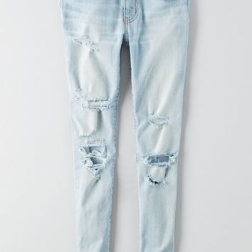 AEO Women's Denim X Caf Jegging (Creme Blue)