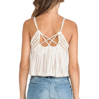 Free People Chemical Lace Romance Top in Cream