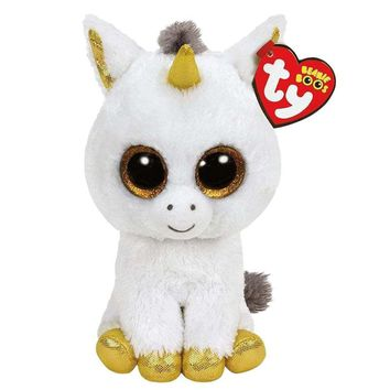 "Ty Beanie Boos Stuffed & Plush Animals White Unicorn Doll Toys For Children With Tag 6"" 15cm"
