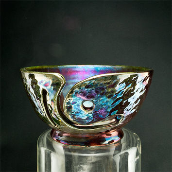 Perseus Yarn Bowl Raku Pottery YB1368