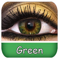Natural Green Contact Lenses | Coloured Contact Lenses