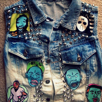 Punk Studded Denim Vest/Jacket