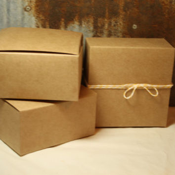 Kraft Gift Box 4X4X2 set of 30 -- Favor Box