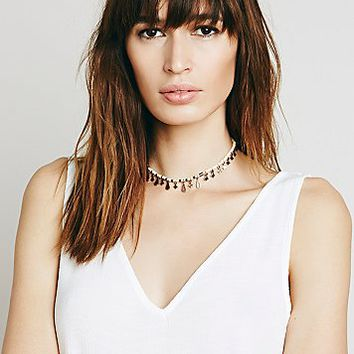Free People Womens Rachel Beaded Collar