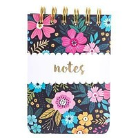 Navy Floral Spiral Petite Journal