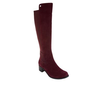 Marc Fisher Burgundy Suede Incept Medium Calf Tall Shaft Boots