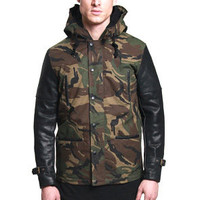 Woodland Military Fishtail Parka Jacket: Camo