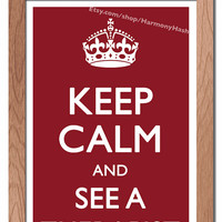 Keep Calm And See A Therapist Hi-Res Digital Poster
