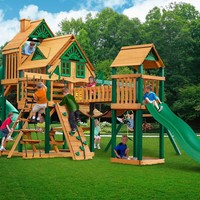 Gorilla Playsets Treasure Trove I Treehouse Wooden Swing Set