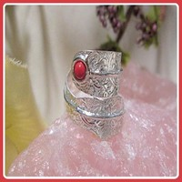 Passion Wisdom & Optimism Coral Ring