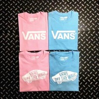 VANS couple short sleeve tee top H-A-GHSY-1