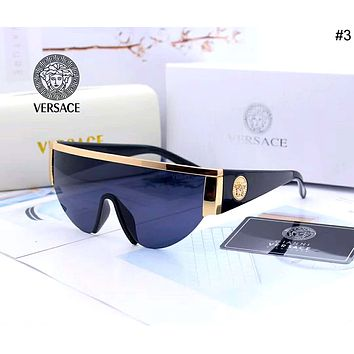 Versace 2019 new men and women models simple wild color film polarized sunglasses #3