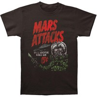 Mars Attacks! Men's  Space Adventure Slim Fit T-shirt Coal
