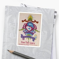 'free tim leary ' Sticker by jamikka1111