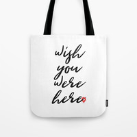 Wish you were here - Floyd Pink Tote Bag by g-man