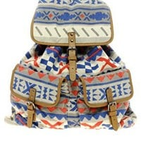 River Island Aztec Backpack at asos.com
