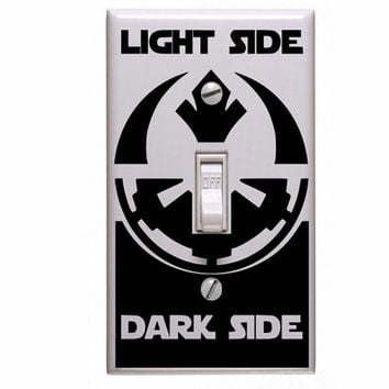 Star wars decals, Star wars light Switch Decal  Imperial Empire & Rebel Alliance decal  Light Side or Dark Side decal for light switch