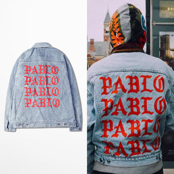 Pablo Jacket Denim Jacket Kanye West I FEEL LIKE PABLO Denim Coats M-2XL