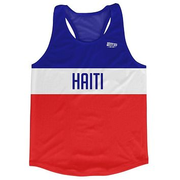 Haiti Country Finish Line Running Tank Top Racerback Track and Cross Country Singlet Jersey