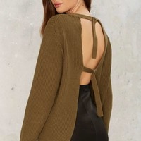 Nasty Gal Baby Come Back Knit Sweater
