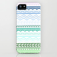 Cool Colors Tribal Pattern iPhone & iPod Case by An Luong