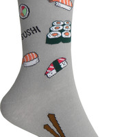 Sushi Crew Socks in Gray