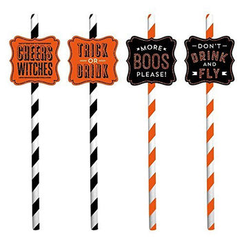 Halloween Party Straws