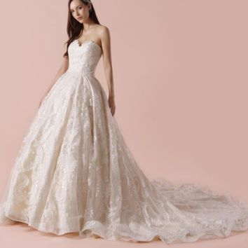 Sweetheart Ball Gown Wedding Dress Unique Lace