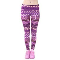 Purple Boho Leggings
