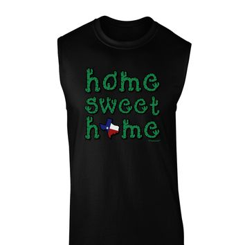 Home Sweet Home - Texas - Cactus and State Flag Dark Muscle Shirt  by TooLoud
