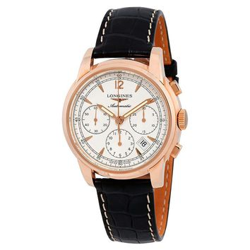 Longines Saint-Imier Beige Dial Mens Chronograph Watch L2.752.8.72.4