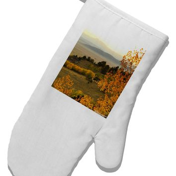 Nature Photography - Gentle Sunrise White Printed Fabric Oven Mitt by TooLoud