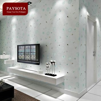 Limited Rushed Papel De Parede Style Non-woven Dandelion Wallpaper Sweet Bedroom Boys Girls Children Room Wall Paper