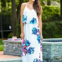 Into The Spring of Things Maxi Dress-Hot Pink