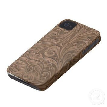Tooled Leather Iphone 4 Cases from Zazzle.com