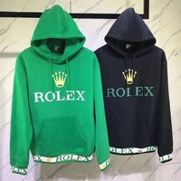 DCCKI2G Rolex Woman Men Fashion Hoodie Top Sweater Pullover