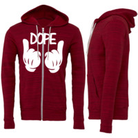 Dope Mickey Mouse Hands Zipper Hoodie