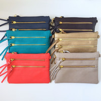 Double Zip Crossbody Purse