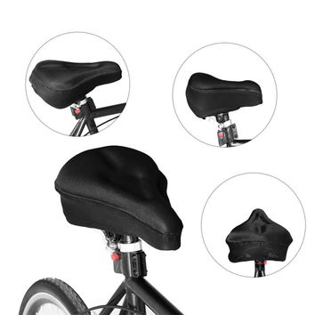 Bike Gel Cushion Cover Bicycle Saddle Cover Extra Soft Gel