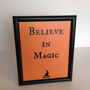 Halloween Decor Believe in Magic Frameable Art  Instant Download DIY Printable