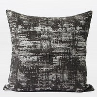 "Charcoal Mix Color Metallic Chenille Pillow  22""X22"""