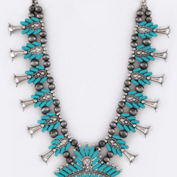 Princess squash blossom necklace