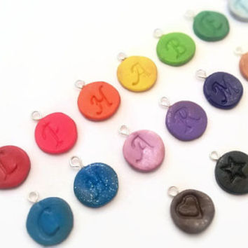 Charm ~ Aphabet Charms ~ Polymer Clay Charm ~ Necklace Charm ~ Bracelet Charm ~ Letter Art ~ Made to Order
